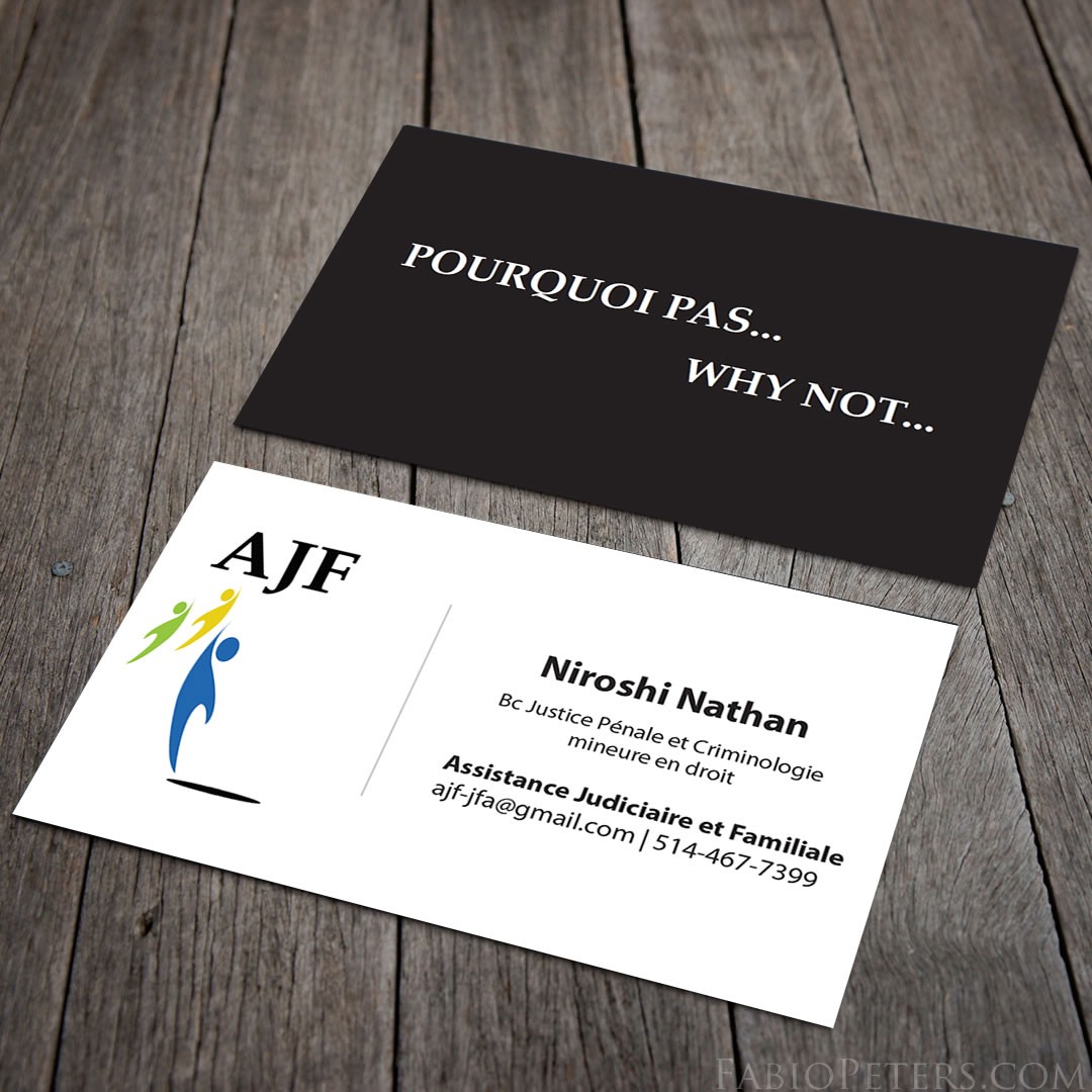 AJF Business Card Design
