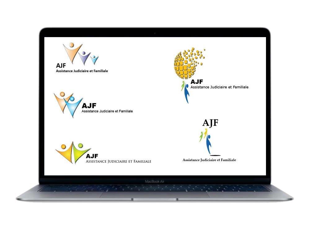 AJF logo variations