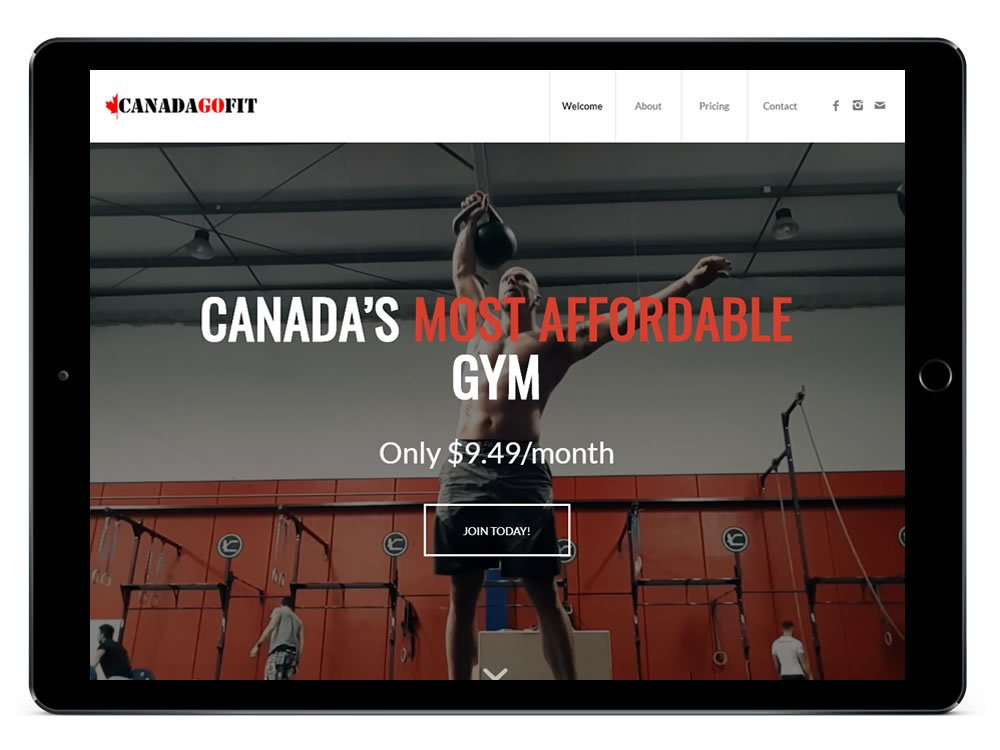 Fitness Website Design Canada