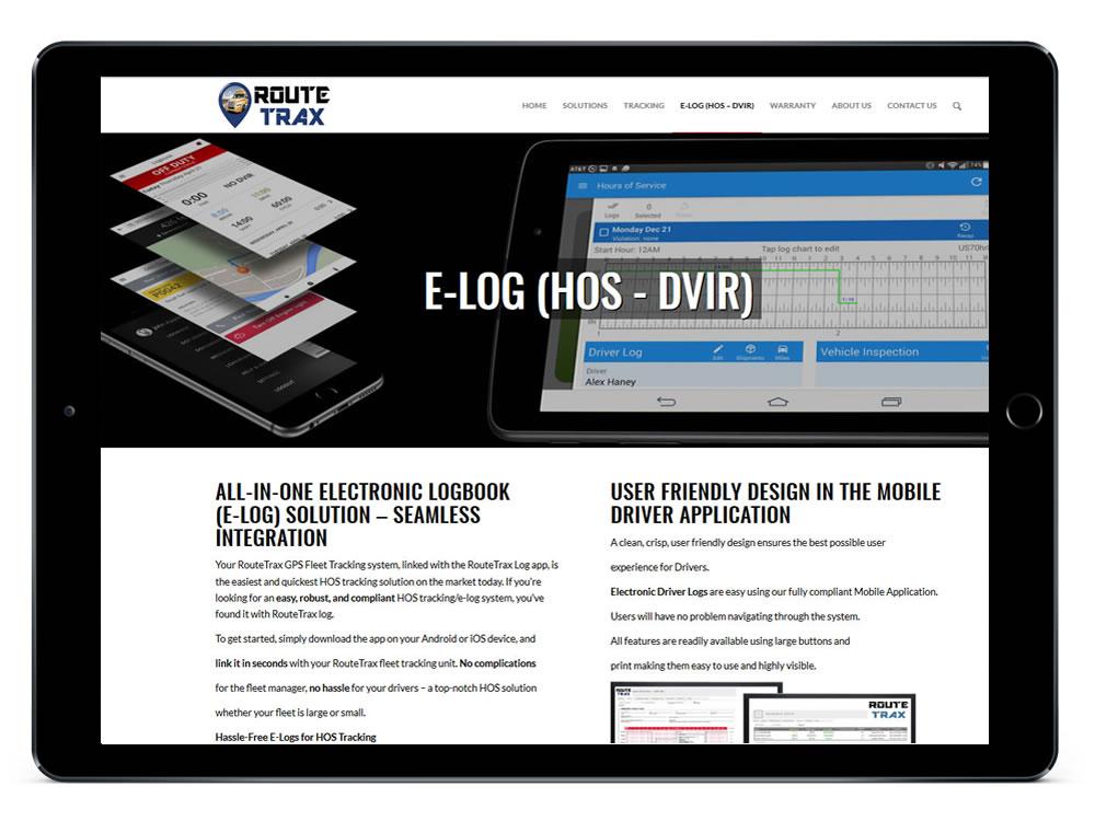 RouteTrax Mobile Responsive Design