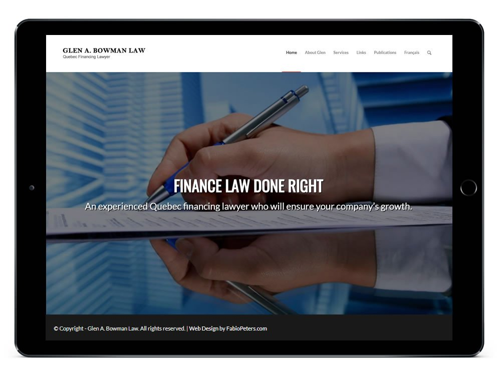 Quebec Legal Services Website Design