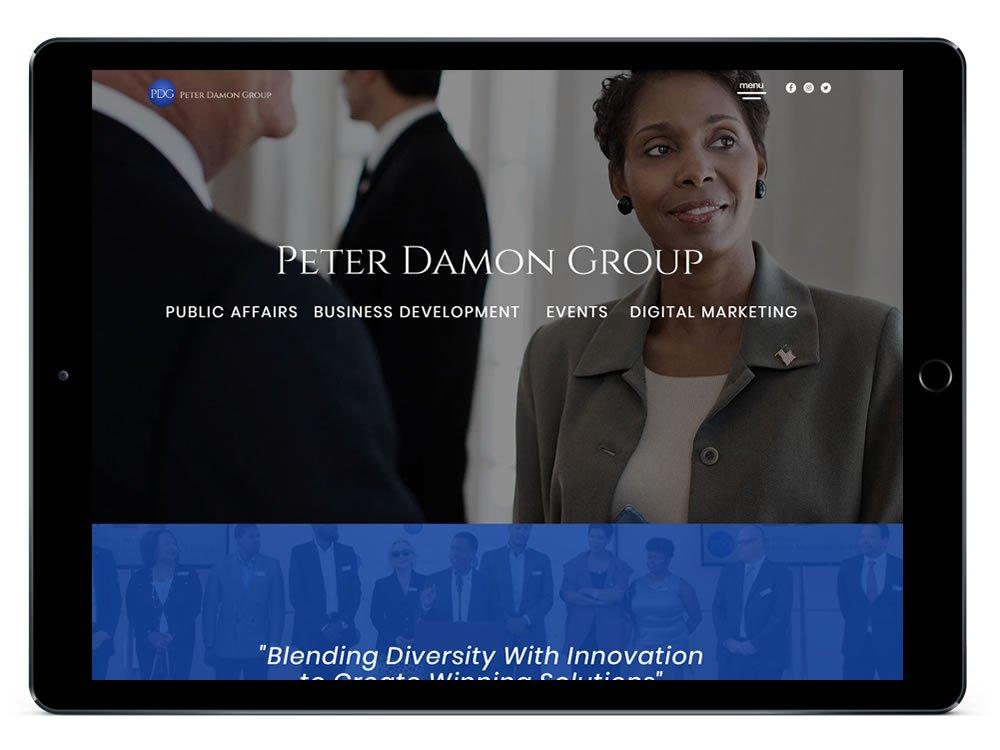 Peter Damon Group Web Design