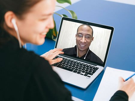 video call meeting with web client